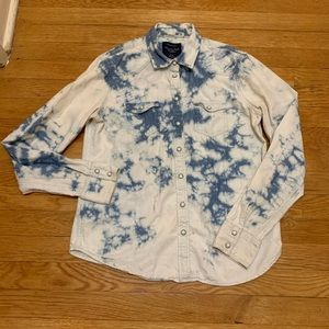 American Eagle Outfitters- Denim tie-dye shirt
